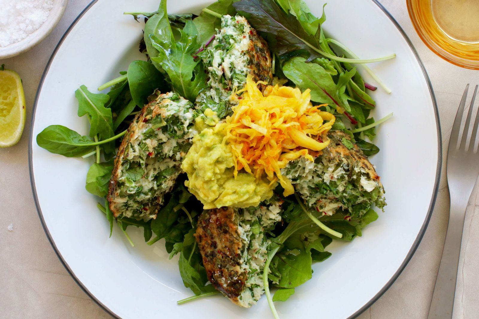 Gorgeous Green Chicken Cakes