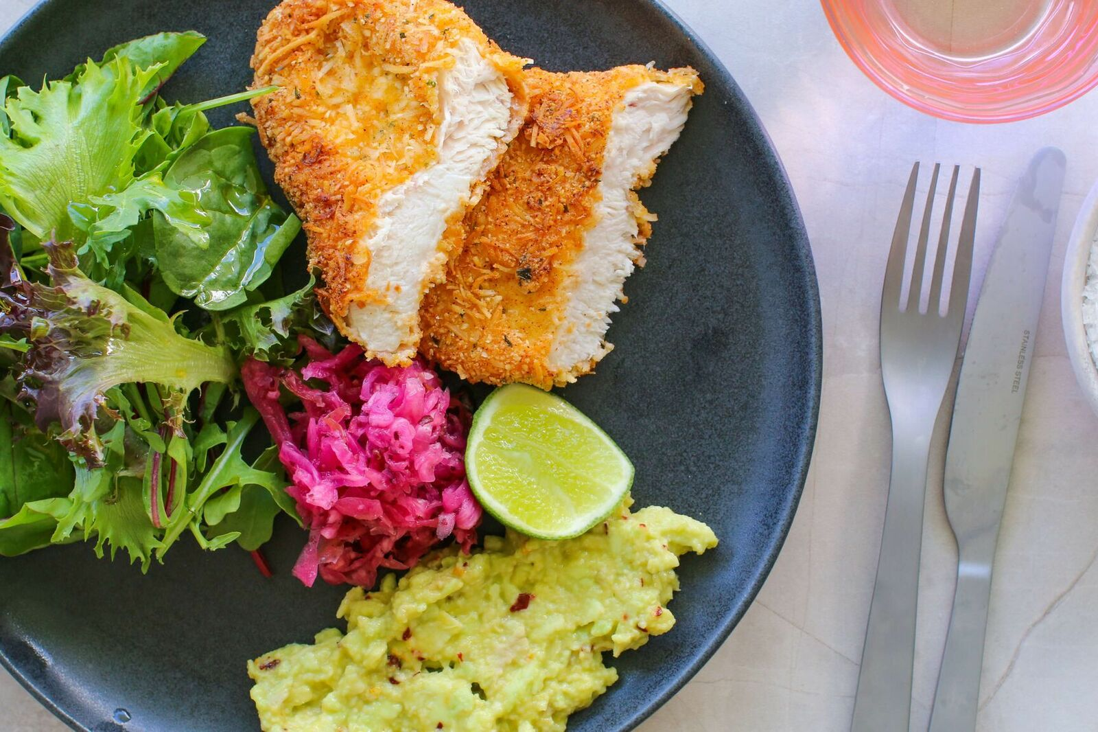 Coconut Schnitzel and Guacamole